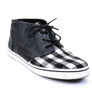Dolce Vita black and white plaid sneakers